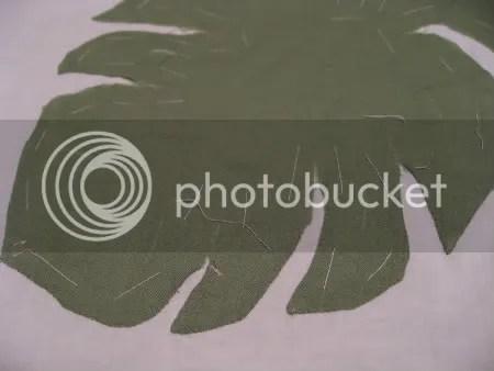 Hawaiian quilt close up wk 1