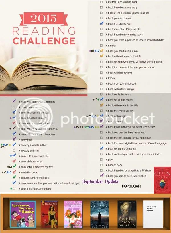 @JLenniDorner Popsugar reading challenge 2015 progress