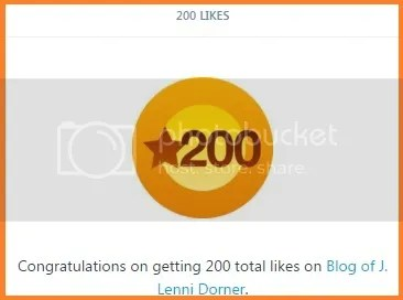200 likes for @JLenniDorner since moving the blog to WordPress