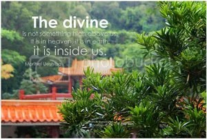 The divine is on Earth inside us