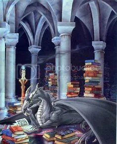 Blue dragon reading image on the blog of @JLenniDorner