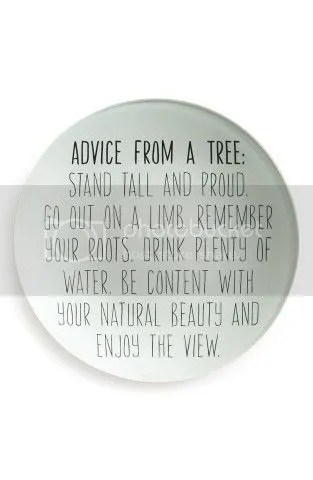 Advice from a tree image on the blog of @JLenniDorner