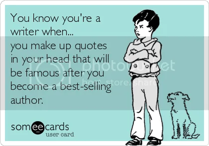 Writer #quote #humor image on the blog of @JLenniDorner