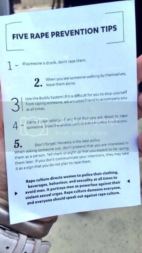 Do not be a rapist. Handy tips! More on the blog of @JLenniDorner