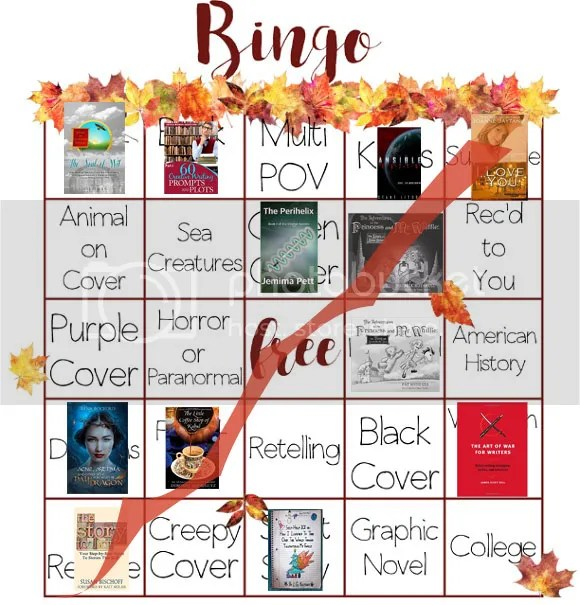 Book Bingo card of @JLenniDorner Autumn 2016