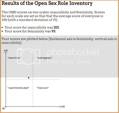 @JLenniDorner Open Sex Role Inventory, a measure of masculinity and femininity modelled on the Bem Sex Role Inventory results image