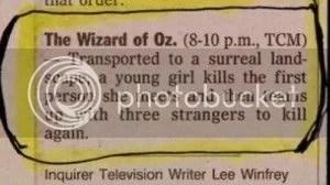 Funny but true Wizard of Oz summary