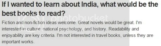 books about India question