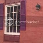 misaligned shutters by window image