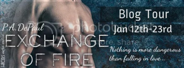 Author P.A. DePaul Blog Tour for the Book Exchange of Fire includes a Contest Giveaway