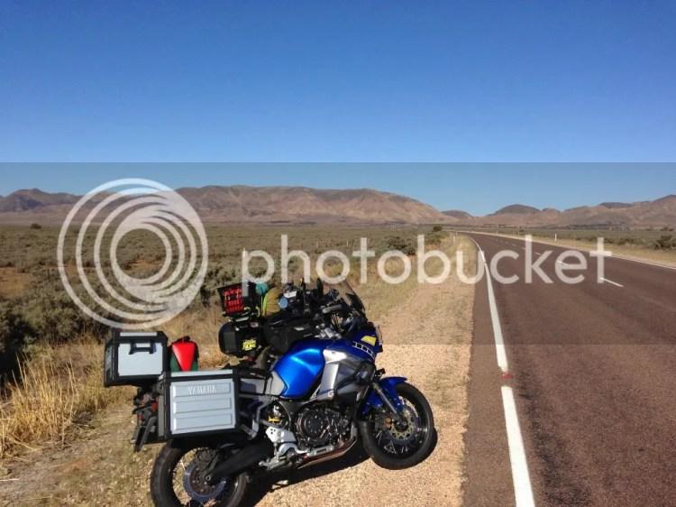 Super Tenere at view towards Horrocks Pass