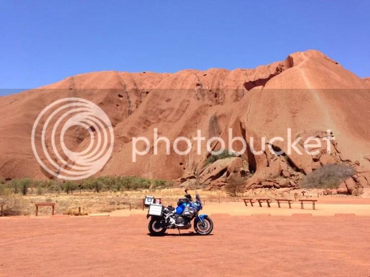 Super Tenere at Uluru