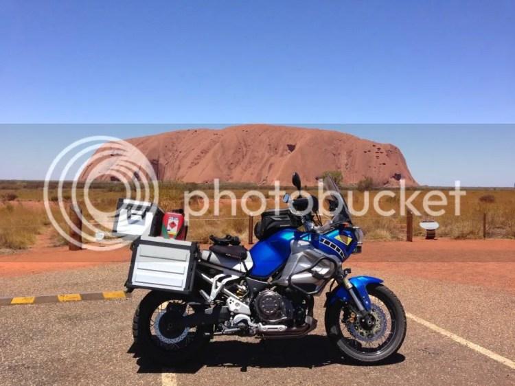 Super Tenere at Sunset Viewing Area, Uluru
