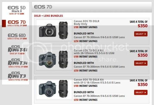 Save Up To $400 On Selected Canon DSLR And Lens Bundles