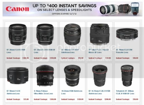 Save Up To $400 On Selected Canon Lenses