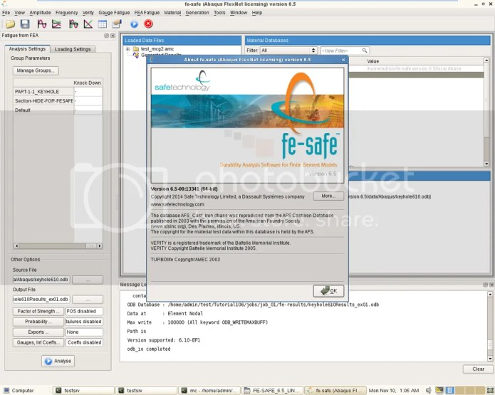 photo Working with Dassault Systemes SAFETECH FE-SAFE 6.5 Linux64 full