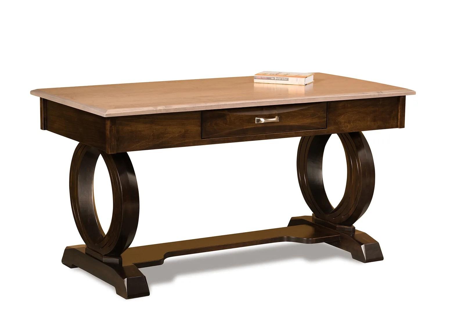 "60"" Amish Contemporary Saratoga Writing Secretary Desk"