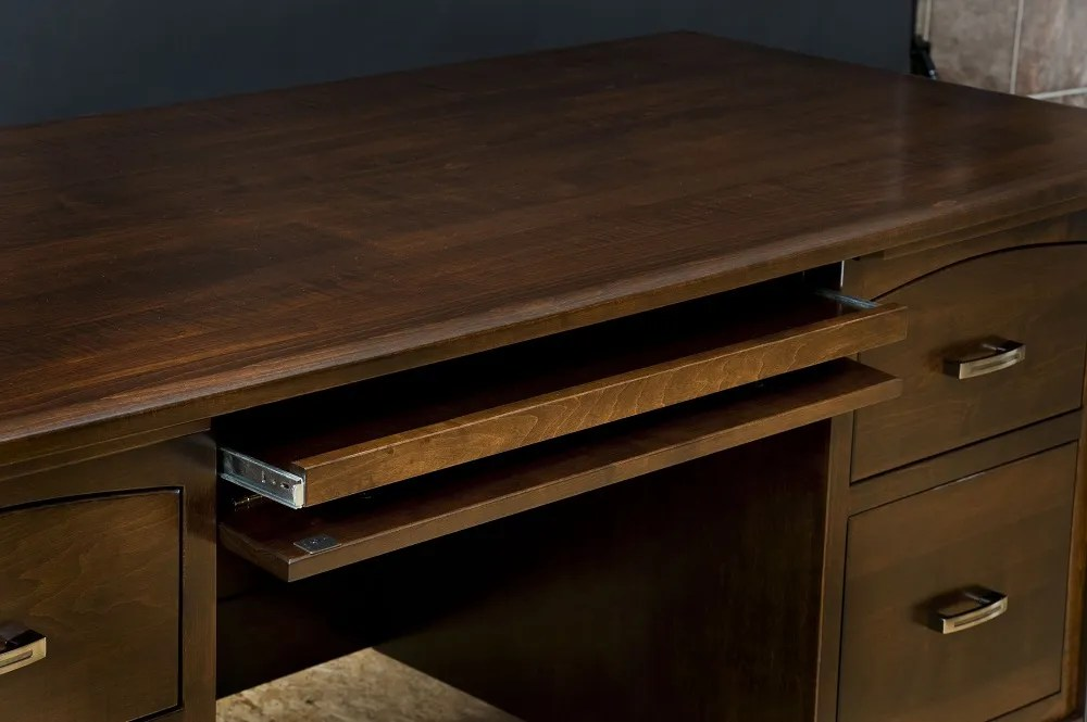 Amish Computer Desk Classic Executive Solid Wood Home