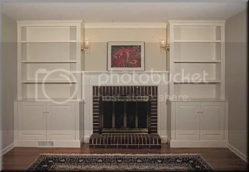 Built-in Bookcases Around A Shallow Fireplace??