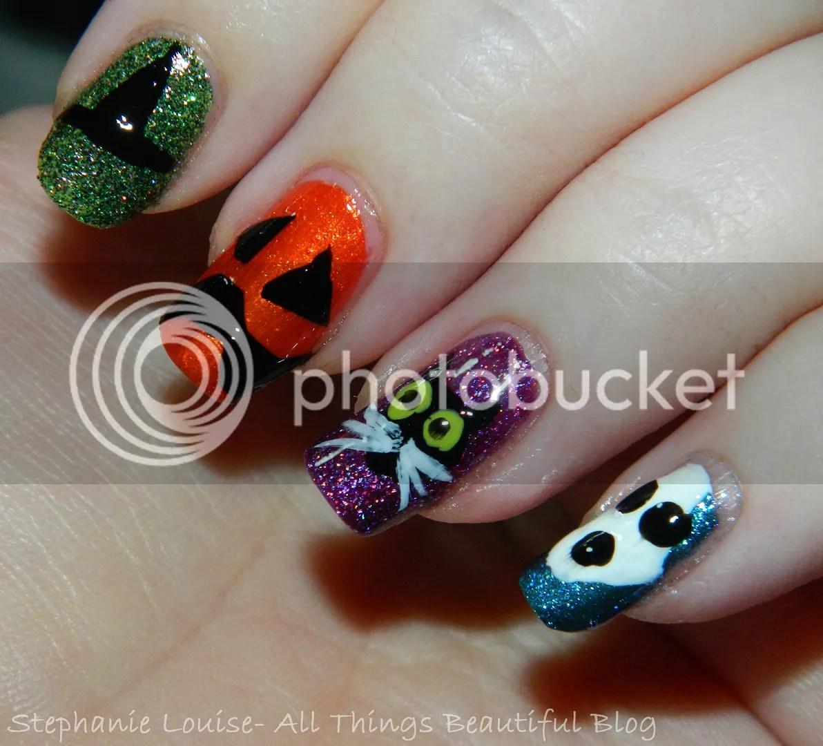 My Totally Random & Fun Easy Halloween Nail Art! - All ...