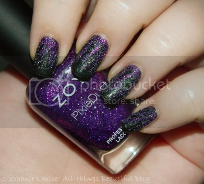 Spookfest Easy Maleficent Inspired Magical Textured Nail