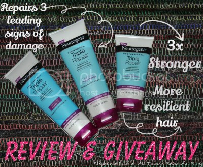 Neutrogena Professional Triple Repair Hair Shampoo Conditioner & Leave-In Treatment Review & Giveaway