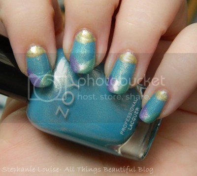 Zoya Awakening Monet Spring 2014 Easter Mother's Day Easy DIY Nail Art Tutorial