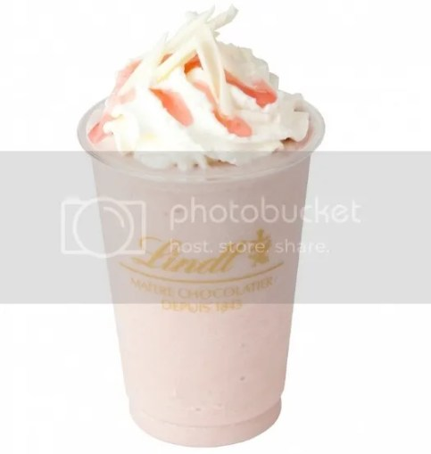 Productos sakura 2017: Lindt White Chocolate Sakura Ice Drink