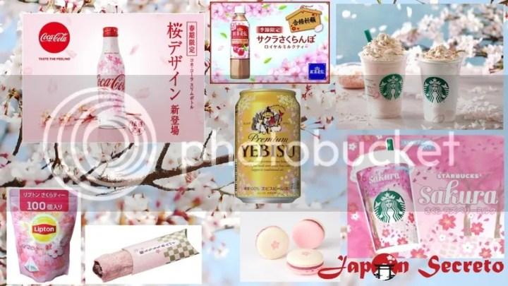 Nuevos productos de edición limitada para la época de florecimiento de los cerezos (sakura) para la primavera 2017