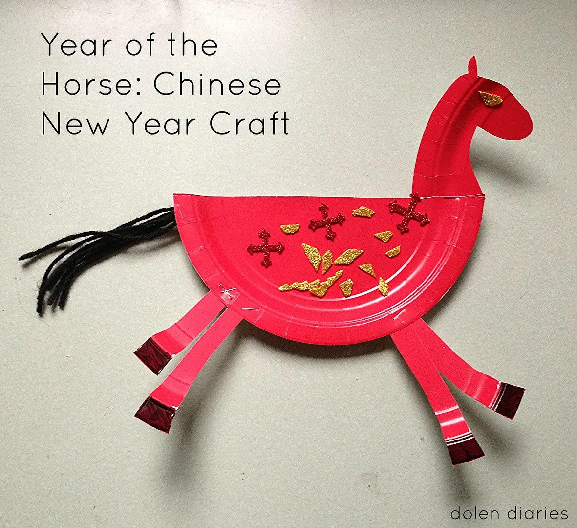 Year Of The Horse A Chinese New Year Craft