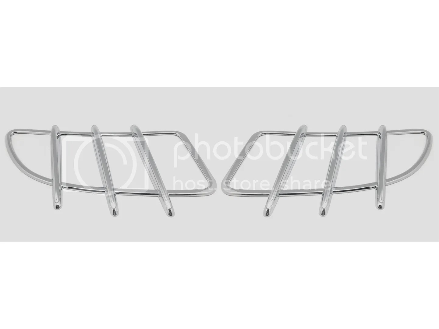 2 Chrome Hood Molding Grill Grille Vent Cover For 04 11