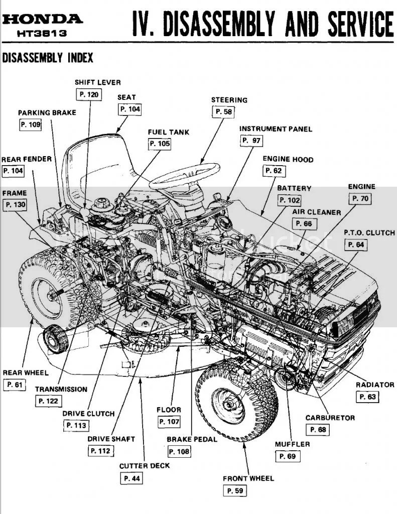 Honda 4514 Mower Belt Diagram Wiring Schematic