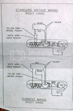 AVRI '52 Tele  Need help Vintage to Modern Wiring