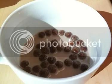 brown cocoa puffs