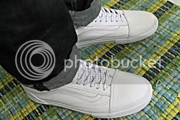 tmrsn - Vault Leather Old Skool LX White