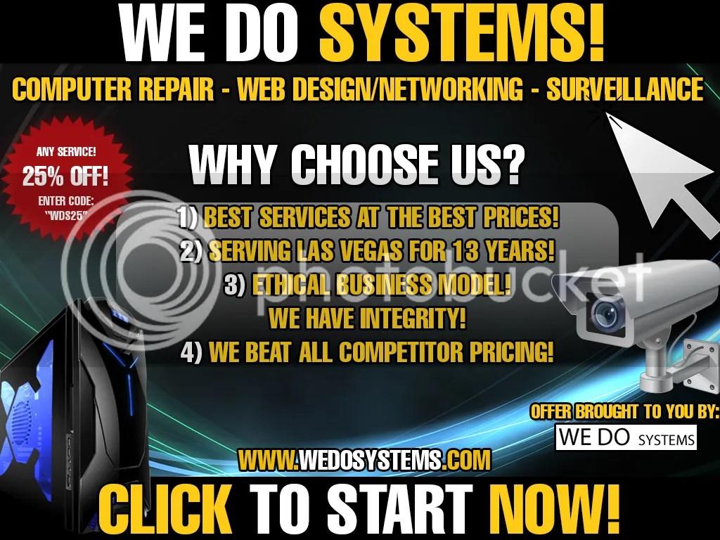 Las Vegas computer repair web design surveillance