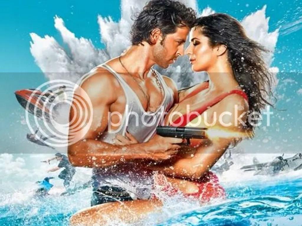 Hrithik Roshan and Katrina Kaif in Bang Bang Poster