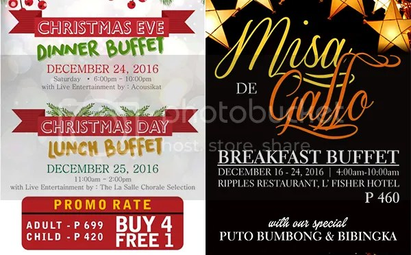 A Gastronomical Adventure At L'Fisher Hotel's Special Christmas Buffets