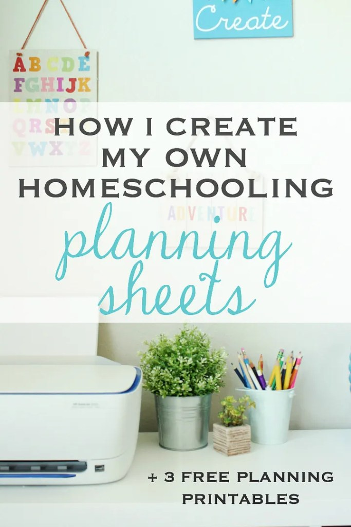 How I save money and create my own planning sheets from home + 3 free printables
