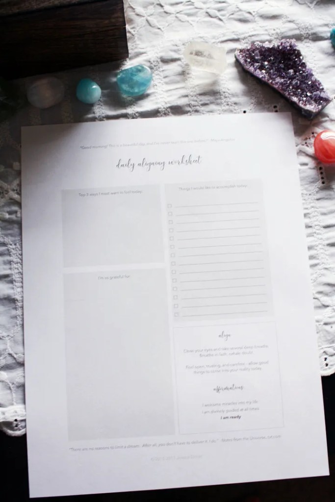 Daily Alignment Worksheet