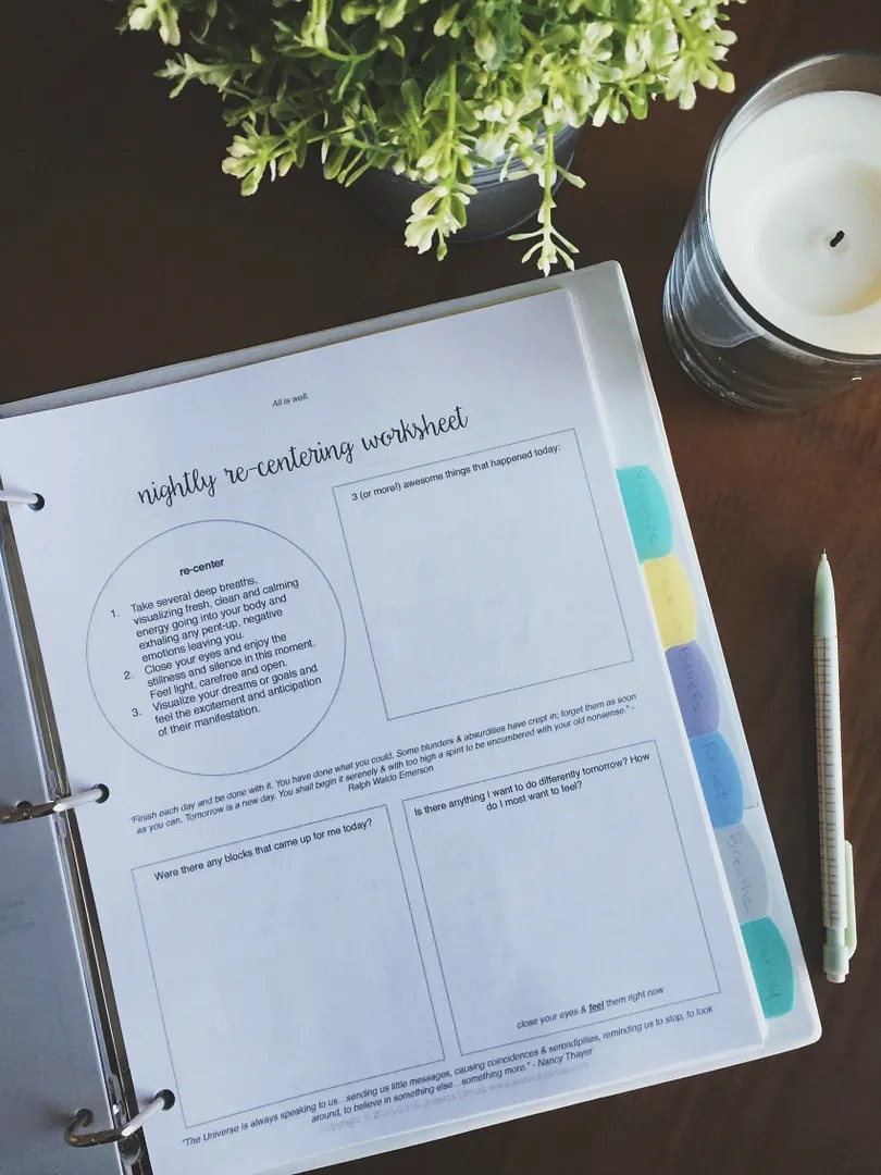 How I Organize My Law Of Attraction Worksheet Bundle Dwell In Magic
