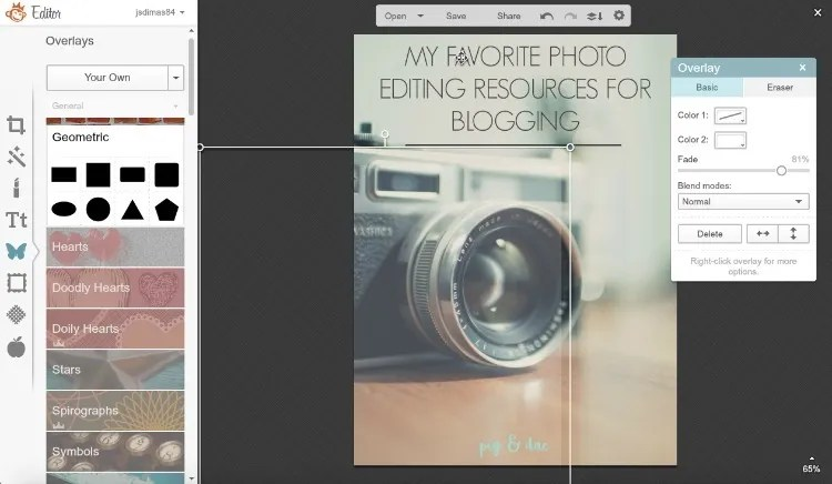 Using Picmonkey for editing blog photos