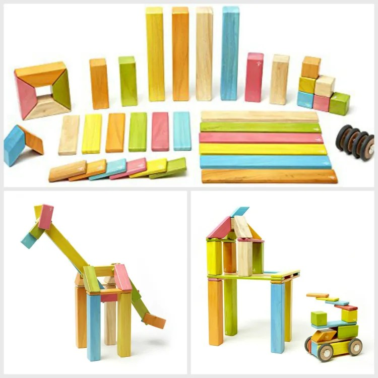 Tegu Magnetic Wooden Block Set - educational gift guide for preschoolers