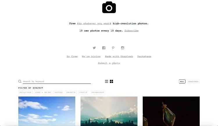 Using Unsplash for Your Blog