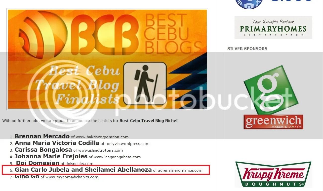 Best of Cebu Blog Awards 2014