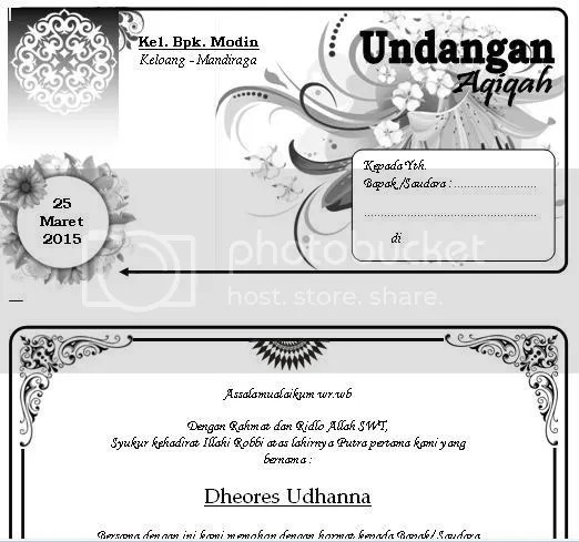 Template Undangan Document