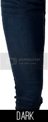 Swatch of dark denim.