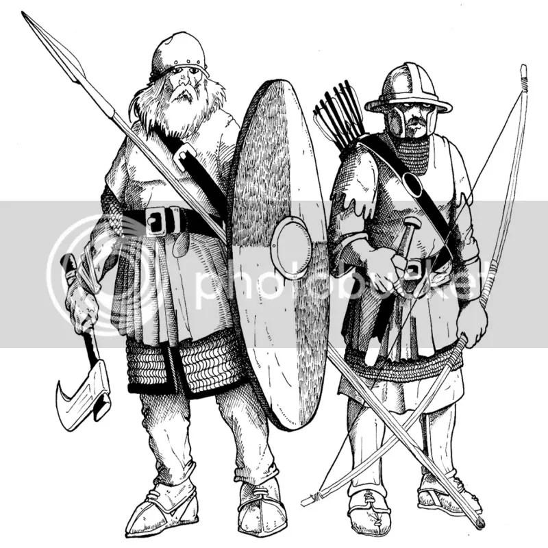 Gunderski piechur i bossoński łucznik