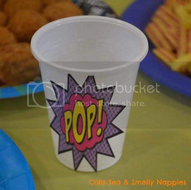Thrifty Superhero Party Cups