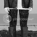 Leather Jacket + Geometric Leggings